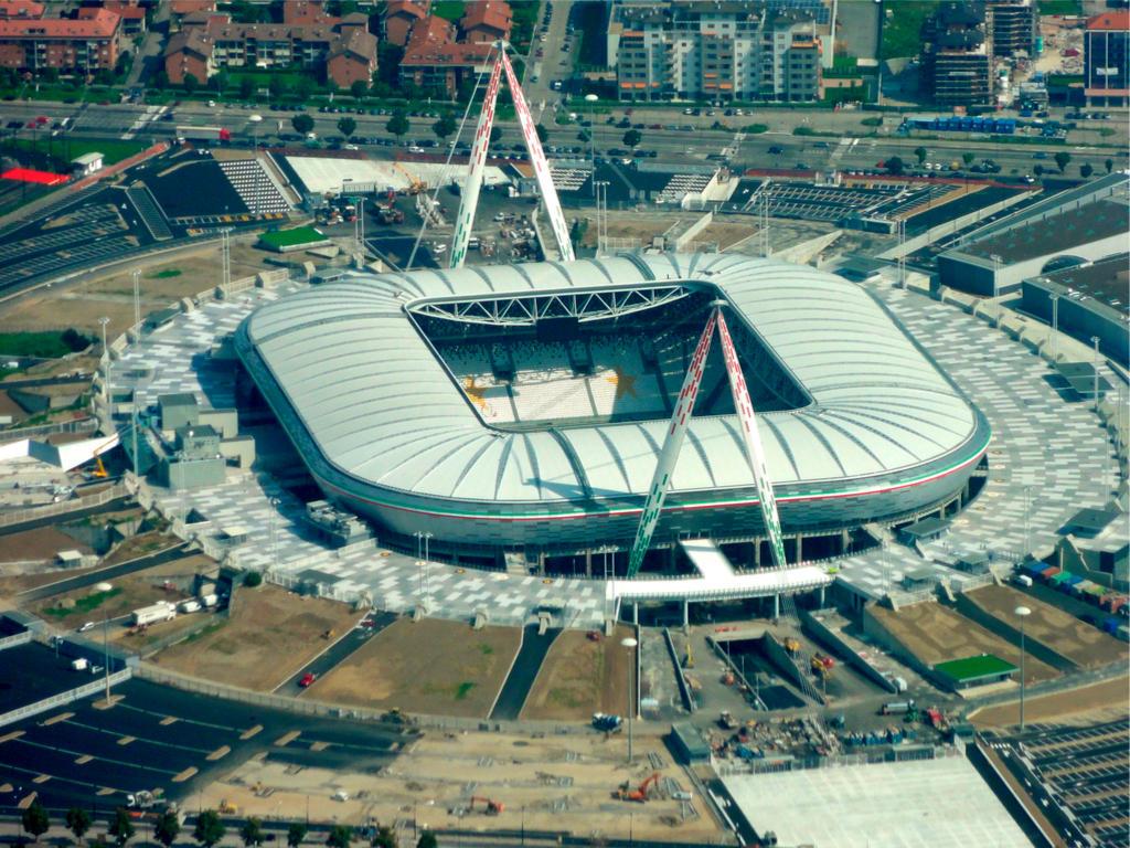 Stadion allianz stadium z lotu ptaka