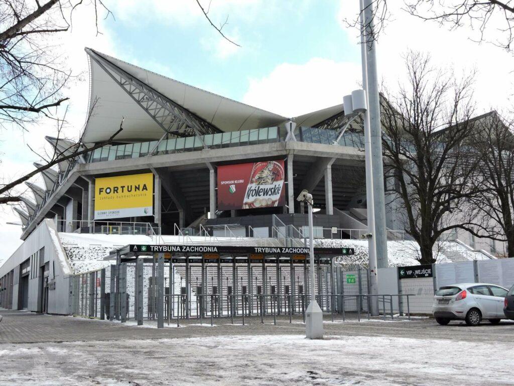 fasada stadionu Legii Warszawa