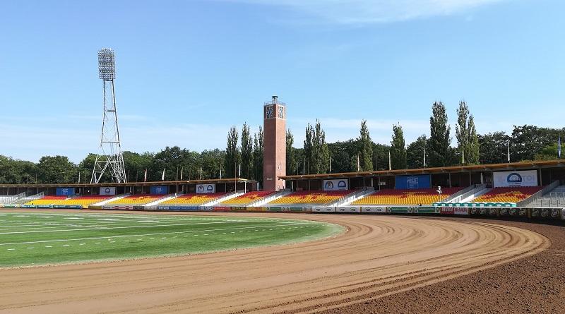 widok na stadion olimpijski Wrocław