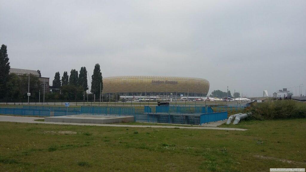 Widok na stadion w Gdańsku