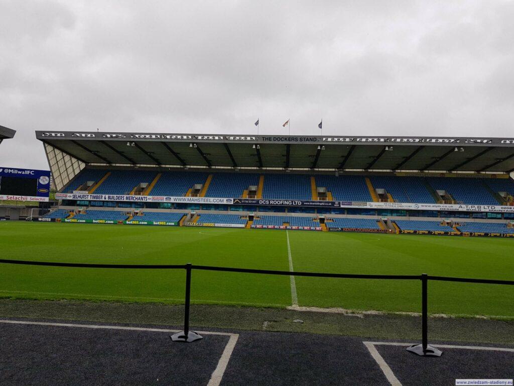 widok ztunelu dla zawodników Millwall