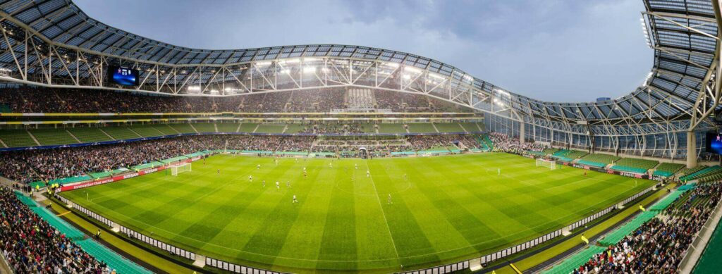 panorama stadionu Aviva Stadium