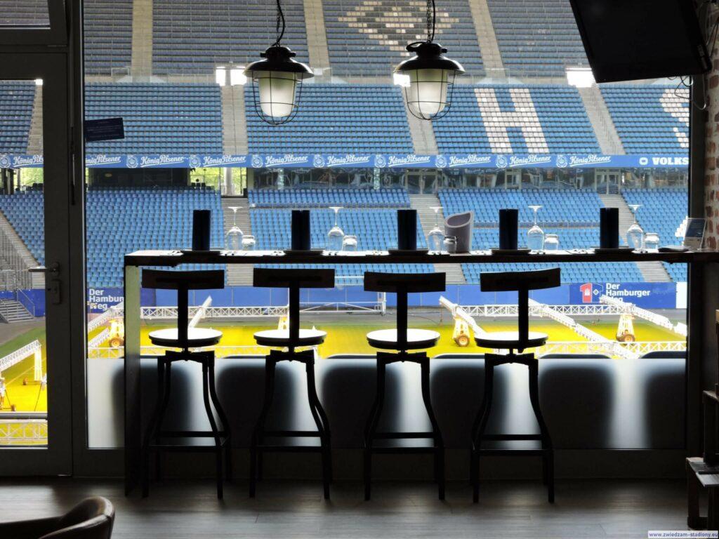 loża z widokiem na murawę stadionu HSV