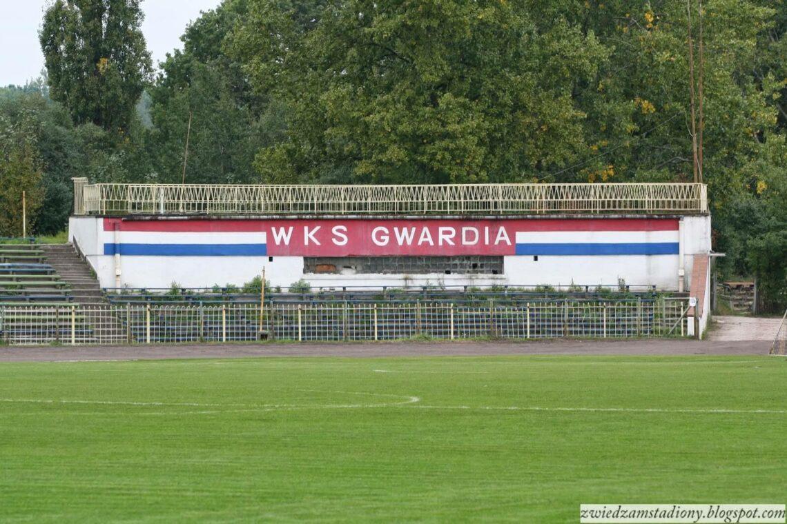 WKS Gwardia widok na mural klubowy