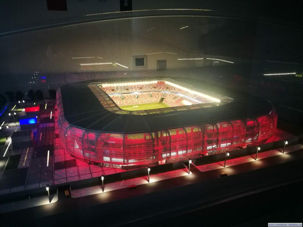 makieta nowego stadionu Górnika Zabrze