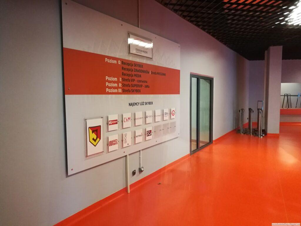 korytarz prowadzący dostrefy VIP