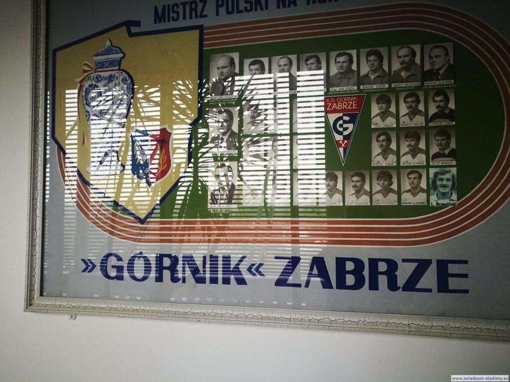 plakat upamiętniający zdobycie mistrzostwa Polski przezGórnik Zabrze