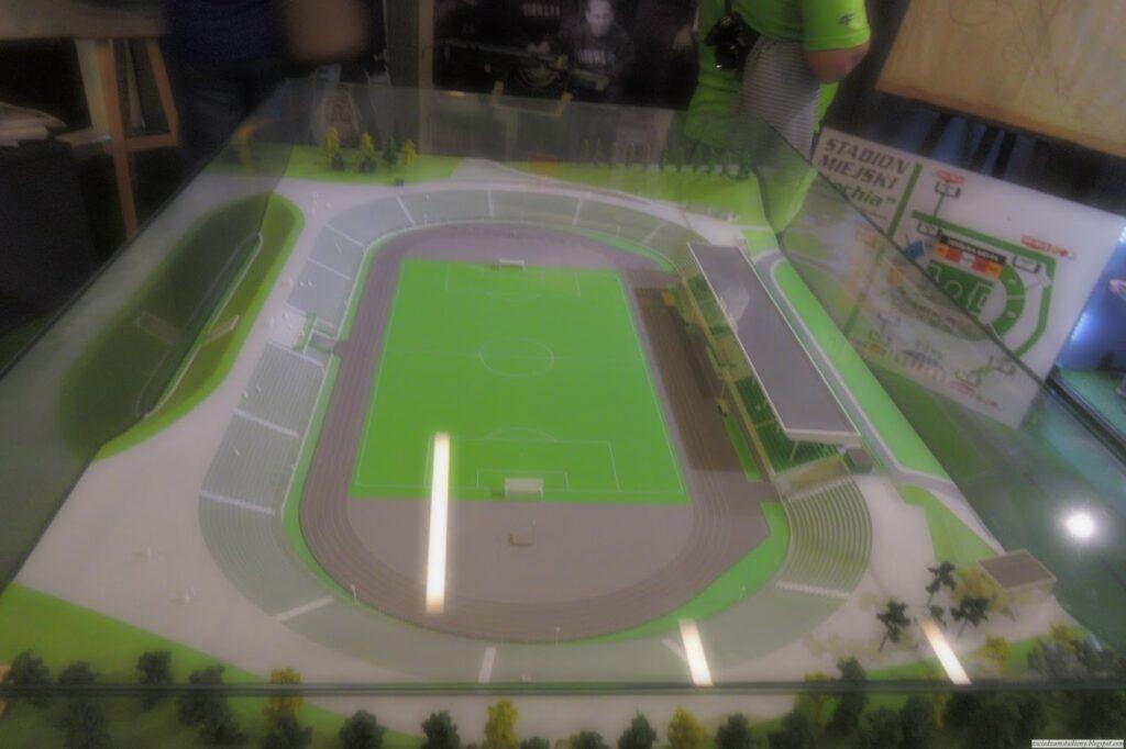 Makieta starego stadionu