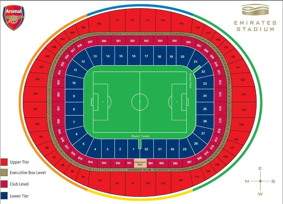 mapa stadionu i sektorów