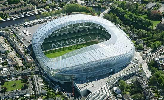 2 stadion Aviva Stadium z lotu ptaka