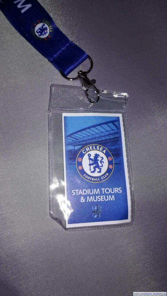 pamiątkowy bilet zwycieczki stadionowej Chelsea Londyn