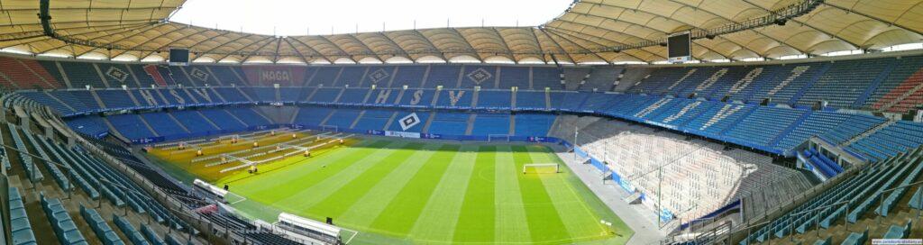 panoramiczny widok na stadion Volksparkstadion