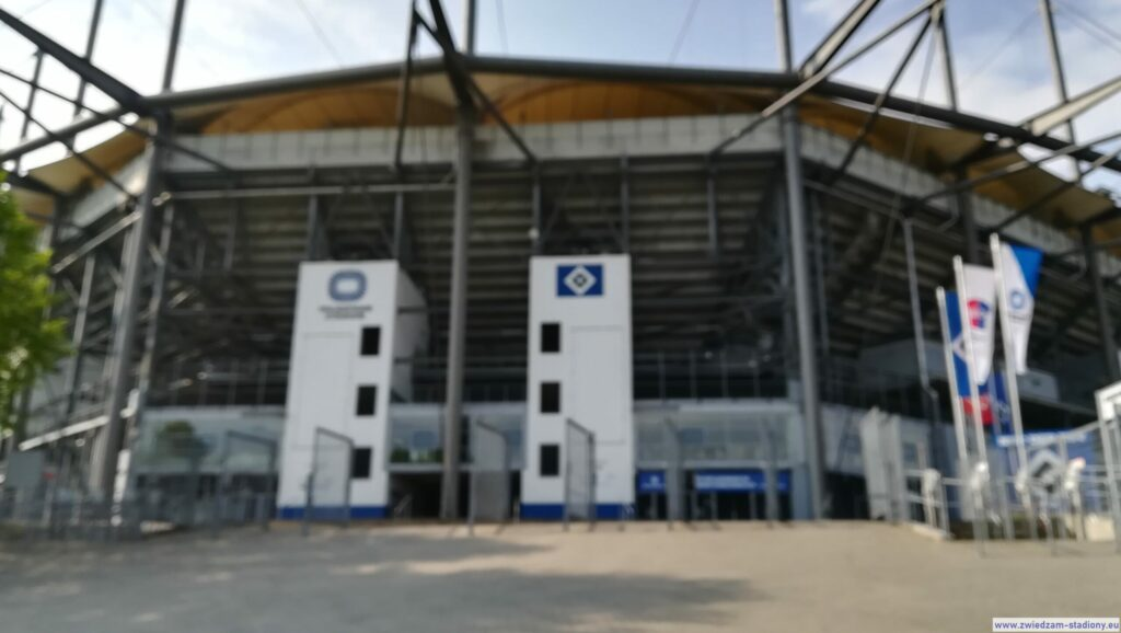 fasada stadionu Volksparkstadion