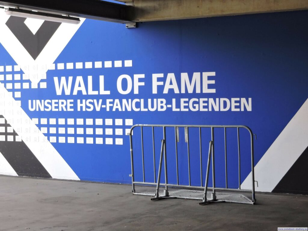 korytarz prowadzący na trybuny stadionu w Hamburgu