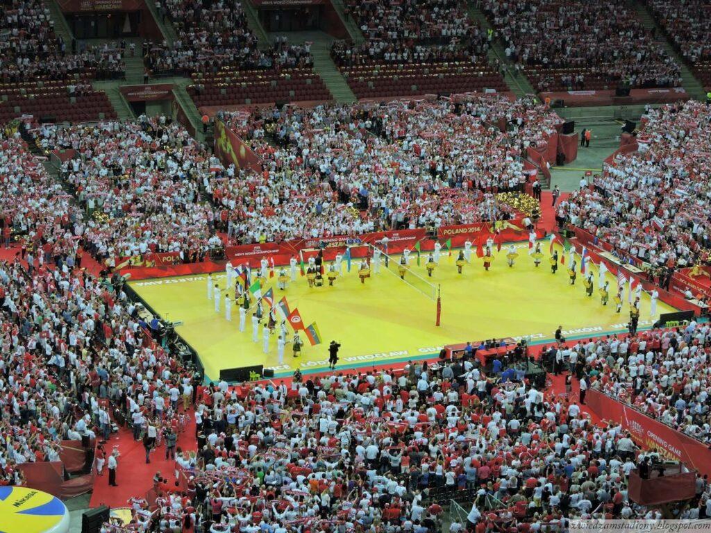 ceremonia otwarcia mistrzostw nastadionie narodowym wWarszawie