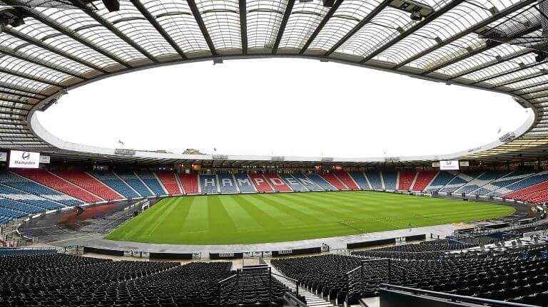 panorama stadionu Hampden Park