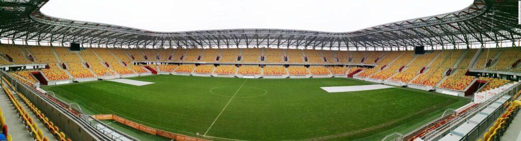 panorama stadionu Jagielloni Białystok