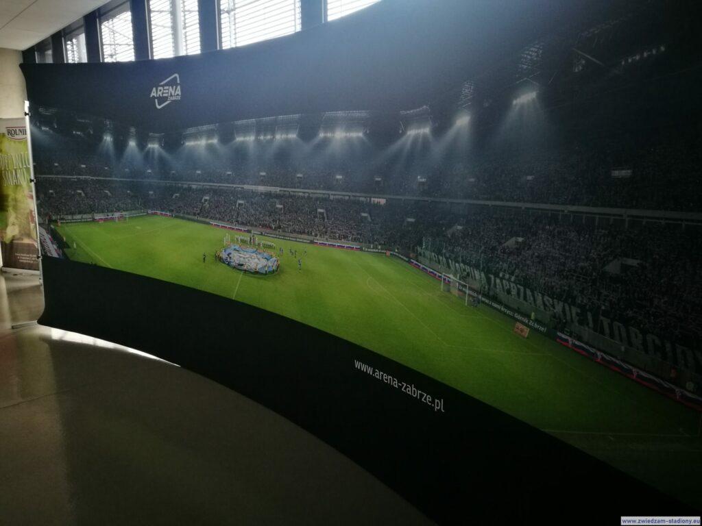 panoramiczne zdjęcie zotwarcia stadionu Górnika Zabrze