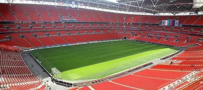 widok natrybuny stadionu Wembley