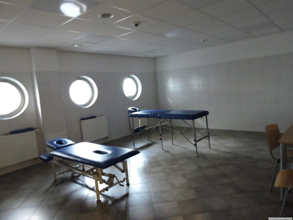 sala odnowy biologicznej na stadionie w Gdyni