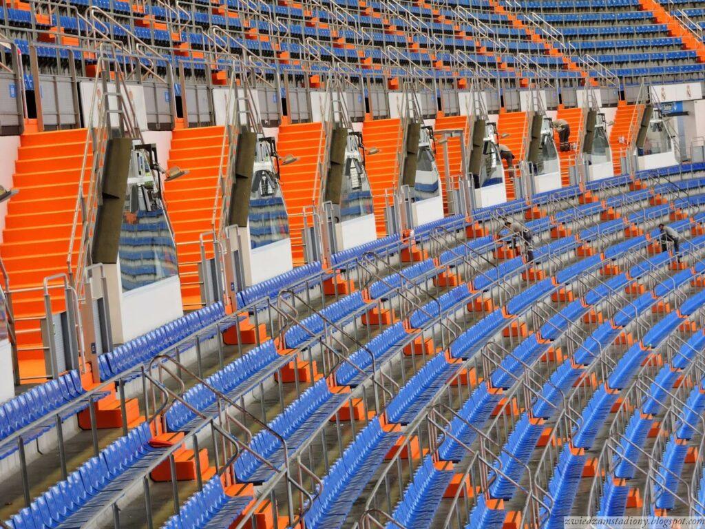 sektory na stadionie Realu Madryt