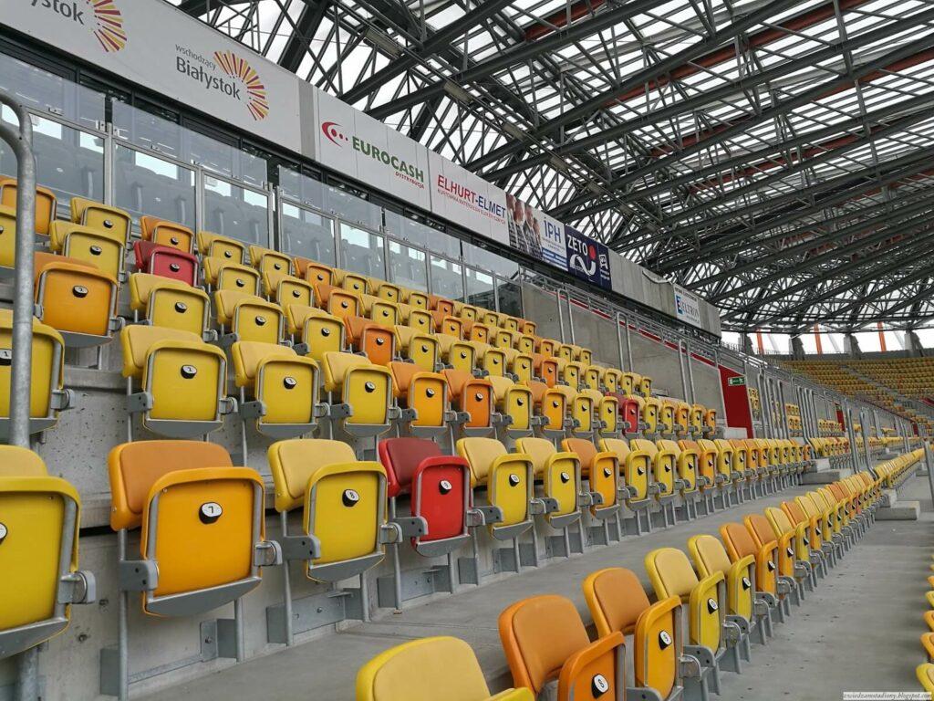 trybuna VIP nastadionie wBiałymstoku