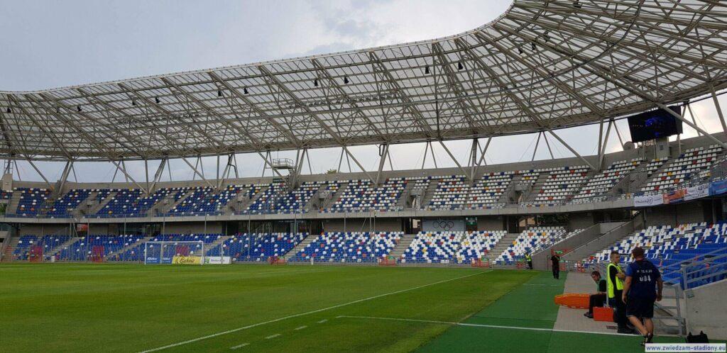 trybuna ultras na stadionie Podbeskidzia