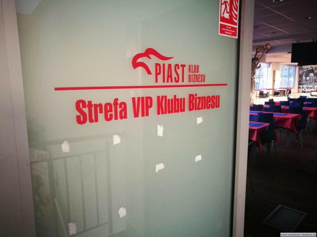 wejście do strefy VIP stadionu Piasta Gliwice
