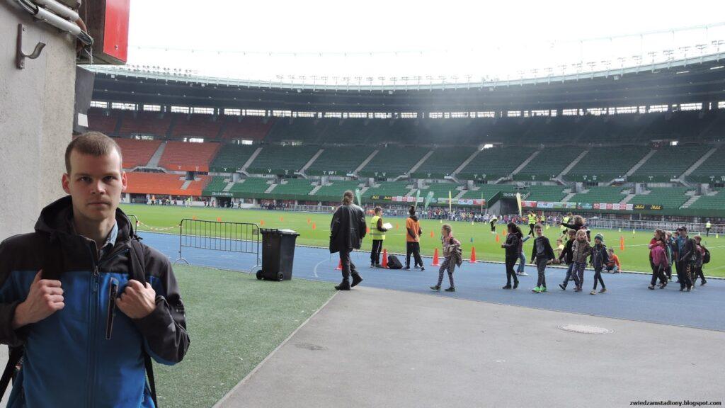 Wejście na stadion Ernsta Happela w Wiedniu