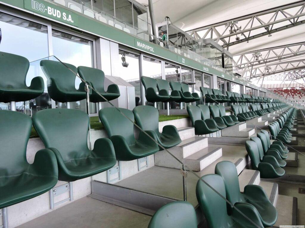 loża VIP na stadionie Legii Warszawa