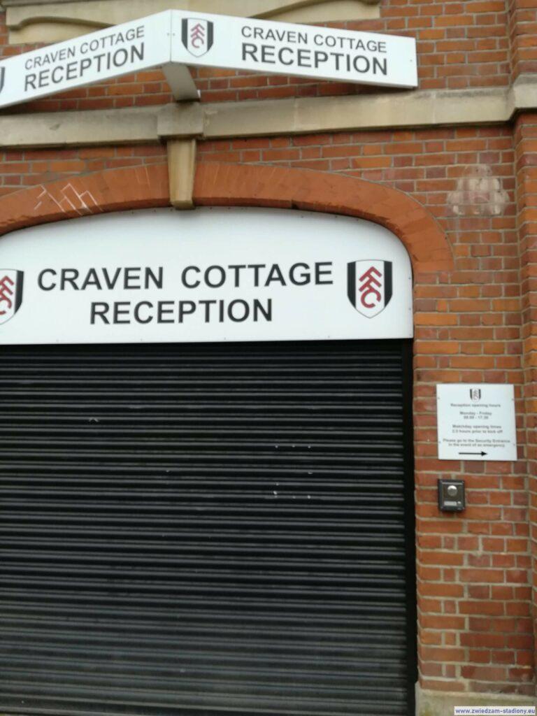 recepcja na stadionie Craven Cottage