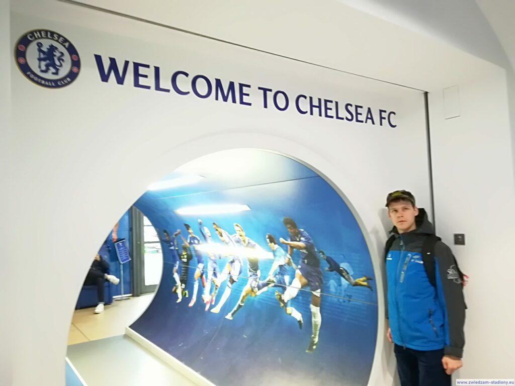 wejście domuzeum klubowego Chelsea Londyn