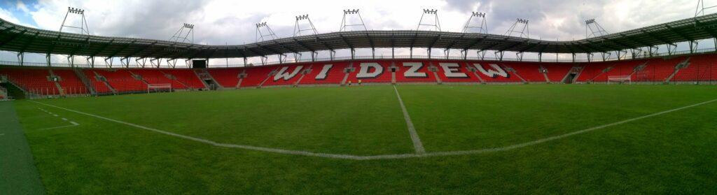 panorama stadionu Widzewa Łódź