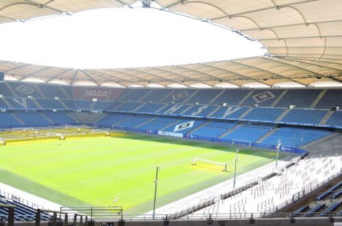 Widok na stadion HSV