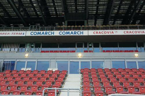 trybuna stadionu Cracovii Kraków