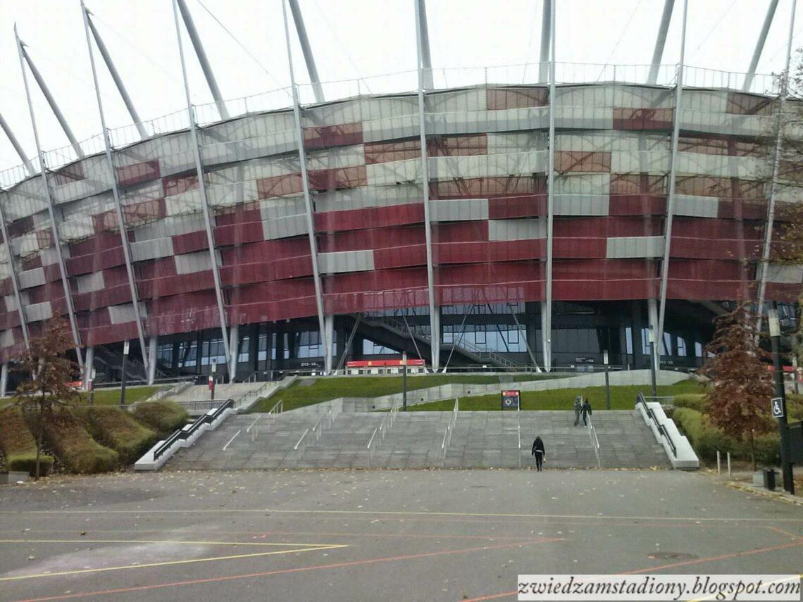 Fasada stadionu narodowego w Warszawie