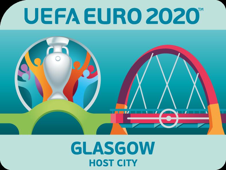 ulotka Glasgow gospodarz Euro 2020 Euro