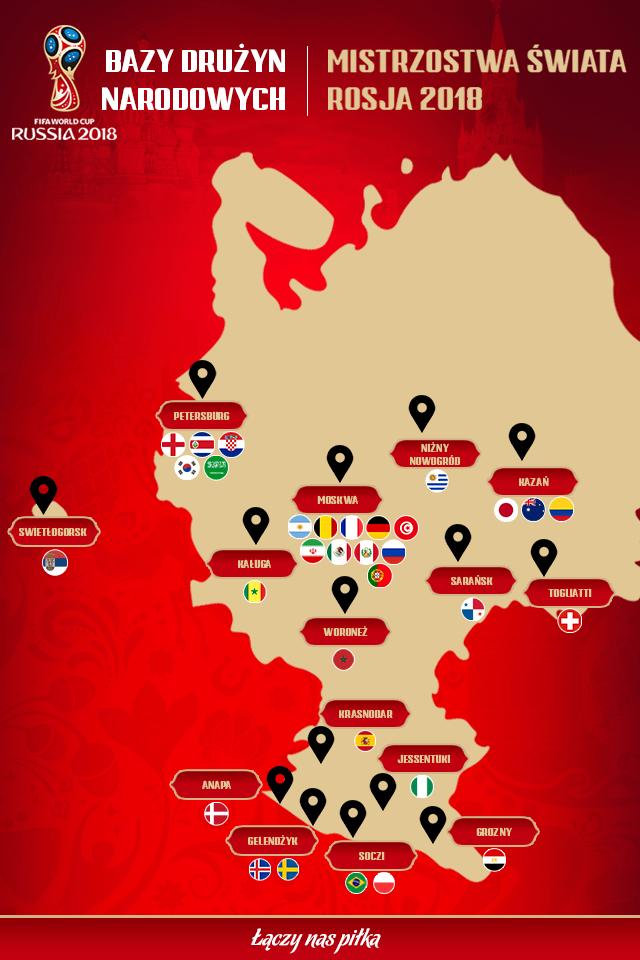 mapa baz treningowych na mundial 2018