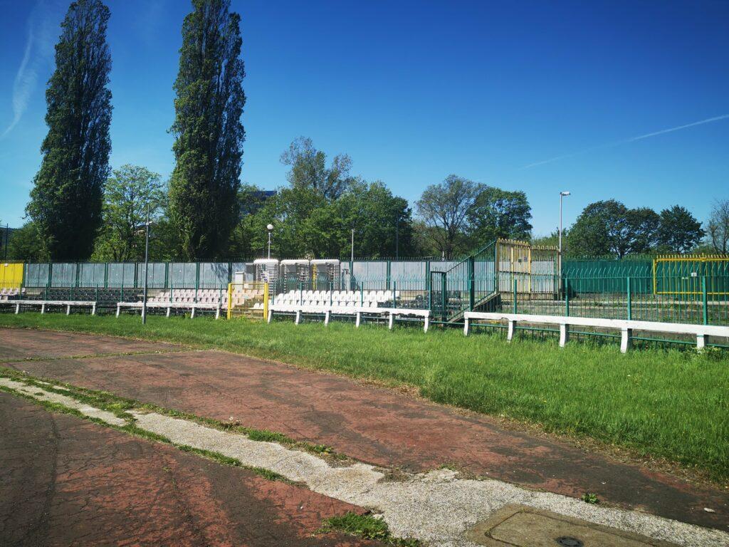 sektor gości na stadionie polonii